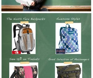 Save up to 60% on Popular Name Brand Backpacks on Irv's Luggage
